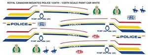 ROYAL CANADIAN MOUNTED POLICE Cady 1/18th Waterslide Decals
