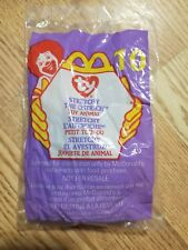 """Vintage 1999 Mcdonalds Happy Meal Toy Ty Beanie Baby """"Stretchy the Ostrich"""" Nip!"""