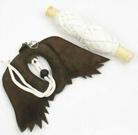 Dark Brown Falconry Lure for Falcon Training Bird Lure Standard Size,Leather