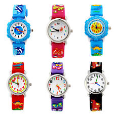 US Christmas Gift Lovely Fashion Cartoon Silicone Children Kid Wrist Watch Cute