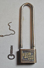 Vinvage ELGIN Bicycle Lock with Key Bike 1940's era