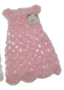 Miniature Dollhouse Accessories Hand Crocheted  Dolls Dress 1/12th scale