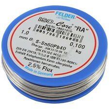 Felder 18601010 Lötzinn 100g 1mm Sn60Pb40 Flussmittel Lötdraht Typ RA 856970