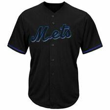 NEW Majestic New York Mets Black Perfromance V-Neck Button Jersey 3XL TALL 3XT