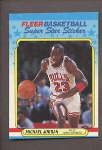 1988 Fleer Sticker Basketball #7 Michael Jordan Chicago Bulls HOF