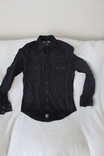 Rock 47 by Wrangler Long Sleeve Button Down Studded Shirt Size Small Black
