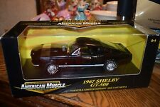 1967 Mustang Shelby GT350 BLACK 1:18 Ertl American Muscle New In Box