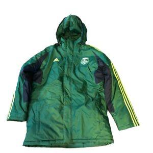 New Portland Timbers adidas Full Zip Heavy Down Sideline Hoodie Size XL Jacket