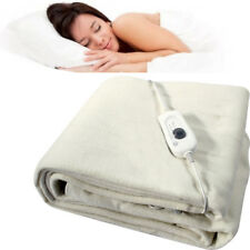 SINGLE ELECTRIC BLANKET UNDER BED WARM NIGHT WASHABLE 60CM X 120CM HEATED FAST