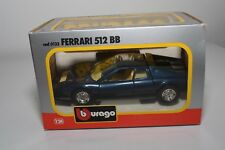 V 1:24 BBURAGO BURAGO 0133 133 FERRARI 512BB 512 BB MET. BLUE MINT BOXED RARE