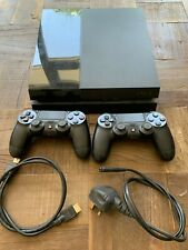 Sony PlayStation 4 500GB Black Console 2 x controllers/HDMI/power lead/games