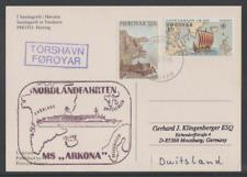 Dänemark-Faröer Insel 1996  Karte von Torshavn nach Deutschland