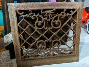 Reclaimed Vintage Furnace Vent Wall Cast Iron