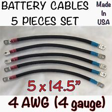 Club Car Ds 1983Up battery cables Golf Cart fits 36 or 48 volts 4 Gauge 4 Awg