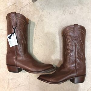 Men's Lucchese Genuine Leather Cowboy Boots Size 9.5 D