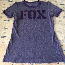 Women's FOX Racing Marled Purple Graphics T-shirt  - Sz XS
