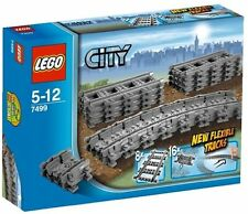 New Lego City Flexible Tracks Set 7499 Straight Play Brand Train Farther Kid Toy