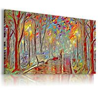 MAGIC FOREST PARK PAINTING PRINT Canvas Wall Art Abstract Picture Large  237
