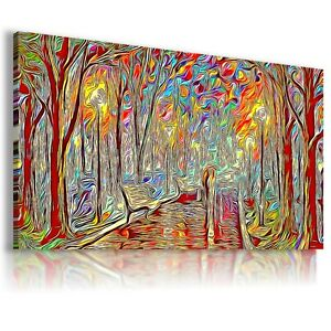 PAINTING MAGIC FOREST PARK PRINT Canvas Wall Art Abstract Picture  237  MATAGA