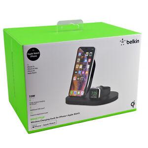 Belkin MFi Certified Apple Watch Wireless iPhone 12/11/XR/X Charging Dock Stand