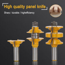 "Classical Extended Tenon Door Router Bit Set Woodworking Cutter 1/2"" Shank 3Pcs"