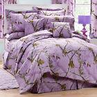 Realtree Purple Camo Sheets Set, Twin Full Queen Purple Camouflage