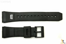 22mm Fits CASIO DBC-62 Data Bank Black Rubber Watch BAND Strap
