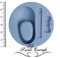 Baby Shoe With Bow Ribbon Silicone Mould Sugarcraft Cake Christening mold