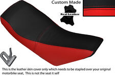 RED & BLACK CUSTOM FITS APACHE 150 QUAD DUAL LEATHER SEAT COVER ONLY