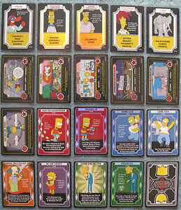 The Simpsons TCG Rare and Foil Cards Part 2/2 (P - Z)