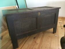 More details for early 18th century oak coffer blanket box chest georgian antique