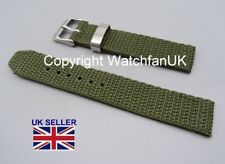 Fabric Army Type Woven Green Watch Strap Fits Seiko SNE095P2