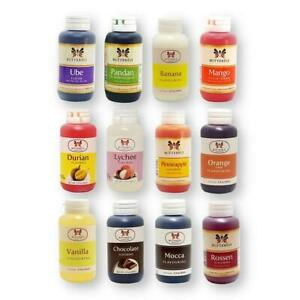 Butterfly Flavoring Extracts Assorted Flavors Your Choice 2 Oz./60 ml (1 Bottle)