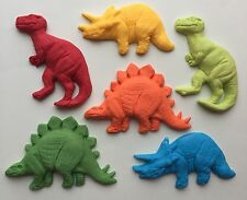 6 Large Chunky dinosaur ,edible fondant cake/cupcake toppers
