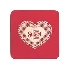 S/4 Cork Coasters Home Sweet Home 10 X 10Cm