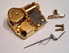 """Sankyo 18 Note Music Box Movement With Reuge Wire Stopper-""""Till The End Of Time"""""""