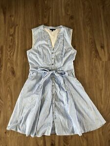 portmans size 10 Blue And White Stripe Cotton dress