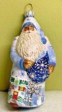Patricia Breen Remember Me Santa Winter Blown Glass Glitter 2003 #2300Mil Milaeg
