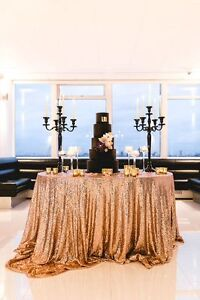 """SEQUIN TABLECLOTHS OVERLAYS 132"""" ROUND 12 COLOURS EVENTS WEDDING DECOR"""