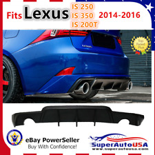Fits Lexus IS250 IS350 IS200T 2014-2016 Unpainted Rear Bumper Diffuser Splitter