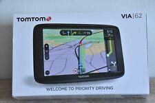 """TomTom Via 62 6"""" Maps Sat Navigation - Black"""