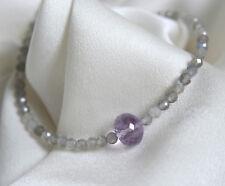 Labradorit Amethyst Edelstein Armband Labradorite amethyst gemstone bracelet