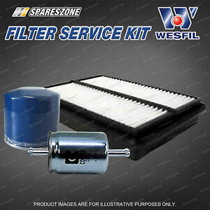 Wesfil Oil Air Fuel Filter Service Kit for Great Wall V240 Wingle 5 2.4L Petrol