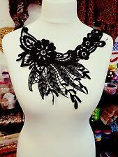Báscula De Encaje Negro Parche bordado en el pecho con apliques Vestido Traje De Baile Motif