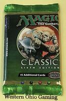 MTG Magic Classic 6th Edition ERROR MISPRINT WRAPPER READ Booster Pack NEW Sixth