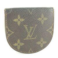 LOUIS VUITTON PORTE MONNAIE CUVETTE Coin Case Wallet Purse Monogram M61960 JUNK