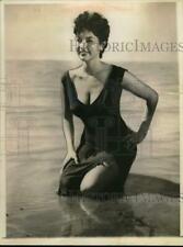 Press Photo Actress Isabel Sarli Wades in Ocean - sap56074