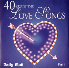 VARIOUS ARTISTS  ‎–  40 GREATEST EVER LOVE SONGS PART 1, Daily Mail CD