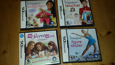 LOT of 4  NINTENDO DS games Imagine Skater Babysitters Teacher Secret World EXC