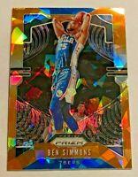 2019-20 Panini Prizm NBA Basketball Orange Ice Prizm Ben Simmons 76ers